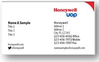 Template 2 <br> Honeywell SBG or SBU